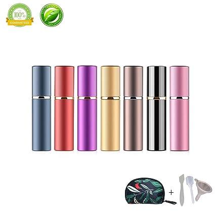 Vaporisateur Parfum Vide Morbuy 7 Pièces Mini Portable Bouteille