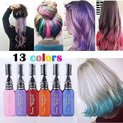 13 Couleur Set Colore Creme Colorant De Cheveux Mascara De