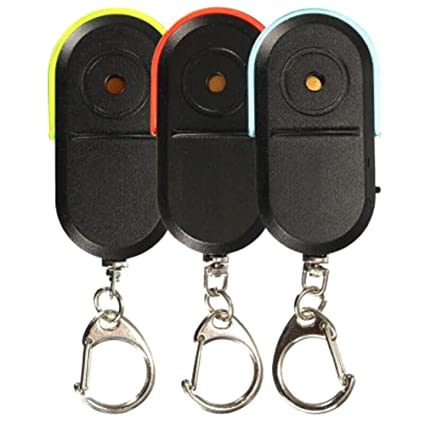 Wireless Anti-Lost Alarm Key Finder Locator Keychain Whistle Sound with LED Ligh