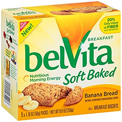 belVita Soft Baked Breakfast Biscuits, Banana Bread, 8.8 Ounce (Pack of 6) from Mondelez Global, LLC