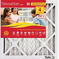 Flanders PrecisionAire 85756.012436 NaturalAire Micro Particle Red Pleat Air Filter (4 Pack), 24 x 36 x 1