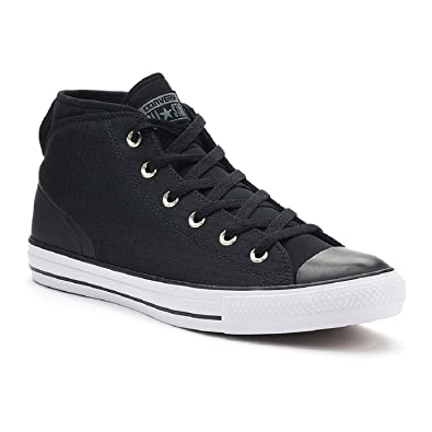 2f11c576ac5a Converse Mens Chuck Taylor All Star Syde Street Mid Canvas Trainers Black  8.5 B(M