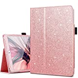 iPad Mini Case, iPad Mini 2 Case, iPad Mini 3 Case, Fingic Sparkly Smart Case Cover for Kids Girls Folio Folding Stand Cover with Holder & Auto Wake/Sleep Case WITHOUT Stylus for iPad Mini 1/2/3, Rose Gold