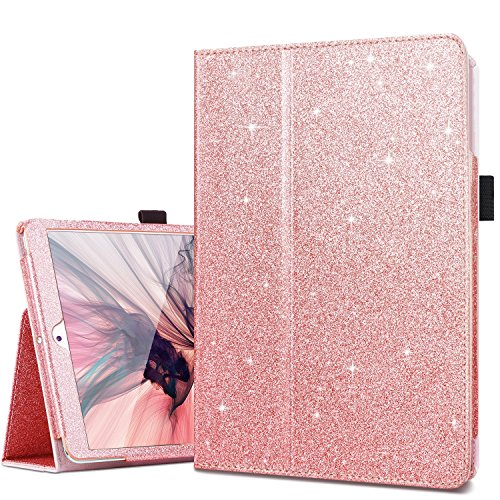 iPad Mini 5 Case, iPad Mini Case, iPad 2 3 Case, Fingic Sparkly Smart Cover for Girls Folio Folding Stand Cover with Holder & Auto Wake/Sleep Case Without Stylus for Apple iPad Mini 1/2/3,Rose Gold