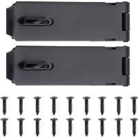 WiMas 2 Pack Roestvrij stalen deur hangslot gesp, Heavy Duty Lock Latch deurbout, veiligheid deur poort slot Latch voor…