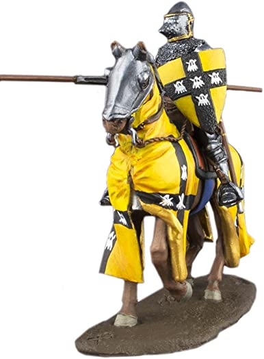 Ronin Miniatures Medieval Cavalry Knight with Lance Rider Hand Painted Tin Metal 54mm Action Figures Toy Soldiers Size 1 32 Scale for Home D cor Accents Collectible Figurines Item 6010AZ