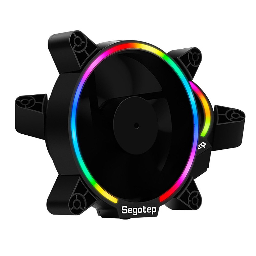Segotep 12 Rgb Led 120mm Quiet Edition High Airflow Ramadan 5 Cooling Fan For Desktop Computer Cases And Cpu Coolers2 Pack Computers Accessories