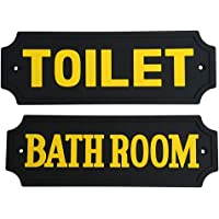 Fenteer Set van 2 tekens met spreuken, badkamer & toilet muurkunst teken voor boerderij / country/home decoratie