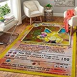 Charizard Card Area Rug and Doormat, Pokemom