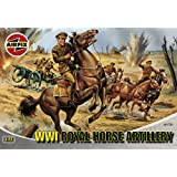 Hornby Airfix A01731 1:72 Scale WWI Royal Horse Artillery Figures Classic Kit Series 1