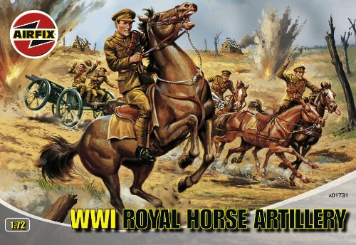 Price comparison product image Airfix A01731 1:72 Scale WWI Royal Horse Artillery Figures Classic Kit Series 1
