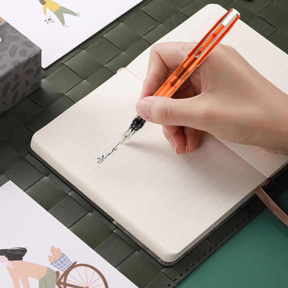 Support Plume dOie /à /Écrire avec Encre /Écriture Stylo de Calligraphie R/étro Plume dEncre Tremp/é /à la Main avec 5 Points Stylo Dip /à Plume Encre et Coupe-papier Un Cadeau parfait