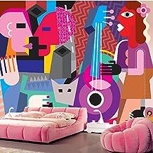 Sproud Custom Papel De Parede Infantil,Abstract Guitar Music Murals For Children Room Living Room Tv Wall Waterproof Wallpaper 150Cmx105Cm
