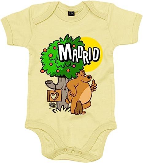 Body bebé Madrid oso y madroño españa - Amarillo, 6-12 meses: Amazon.es: Bebé