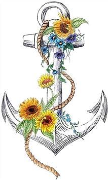 Tatuajes temporales de ancla marítima y barco, para hombre y mujer ...