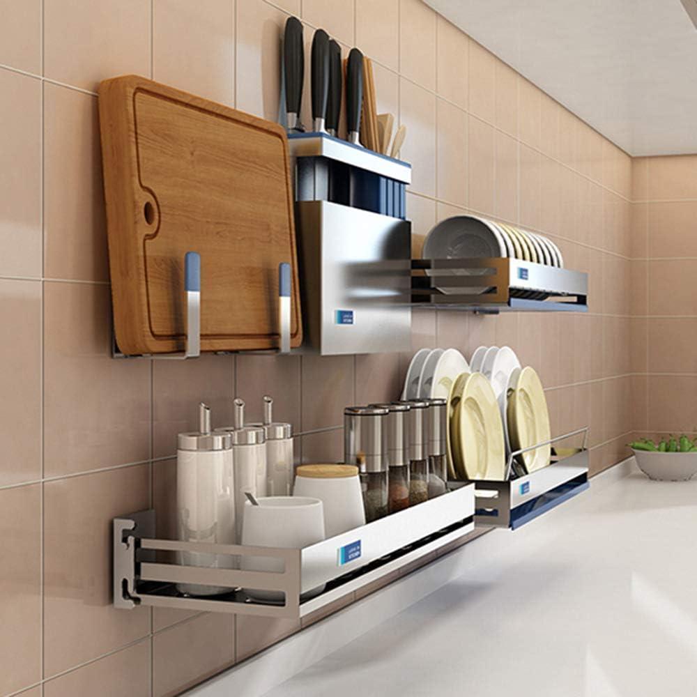 Cesta para vajilla de pared, soporte para escurridor, soporte de cocina, soporte de almacenamiento para vajilla, acero inoxidable Plate Rack: Amazon.es: Hogar