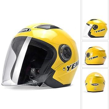 Cascos moto Casco universal antivaho casco cuatro estaciones hombres y mujeres (Color : Amarillo)