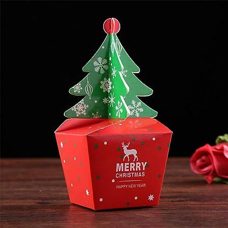 ZouTong Caja, árbol de Navidad envases de cartón, Caja de Regalo de Apple: Amazon.es: Hogar