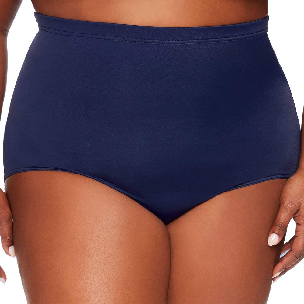 Dreamsuit by Miracle Brands Women's Plus Size Slimming Control Ultra High Waist Bikini Bottom