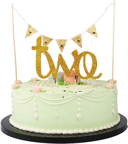Amazon.com: LVEUD - Banderines triangulares para tartas y ...