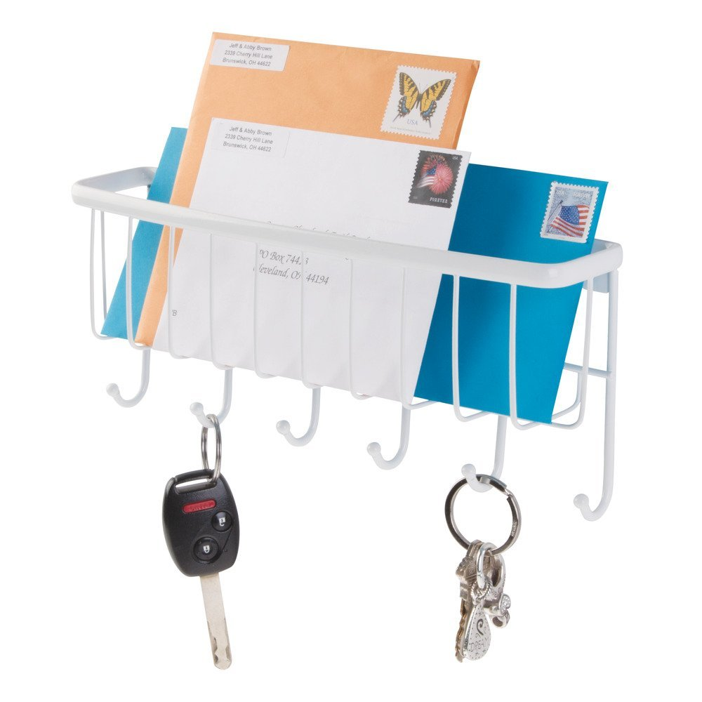 Wall Mount Bronze Key Rack Organizer for Entryway InterDesign Axis Mail Kitchen Letter Holder