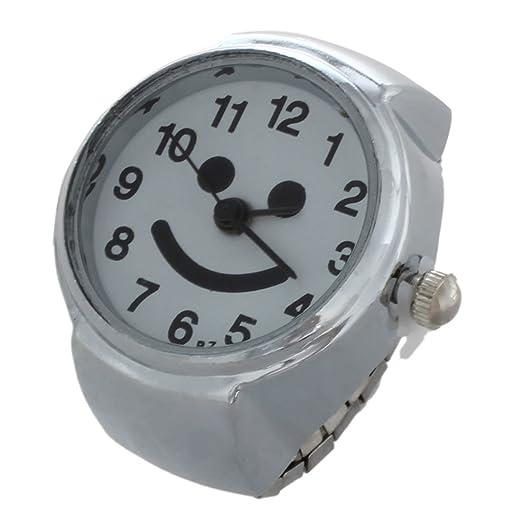 Dedo Anillo Reloj - TOOGOO (R) Metal Goma Banda Árabe Número waehlen Dedo Anillo Reloj: Amazon.es: Relojes