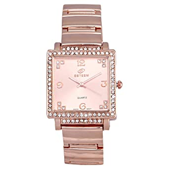 588cc3385 Esteem Watches Women's Rose Gold Dial Casual Watch Brass Strap - E2222L