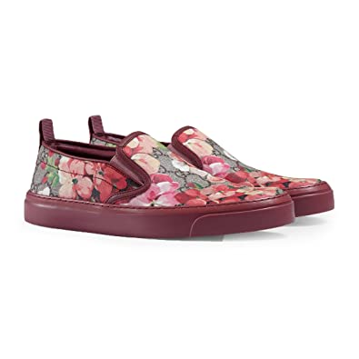 Gucci Womens GG Supreme Blooms Print Slip On Sneaker Multicoloured 408511 7 US