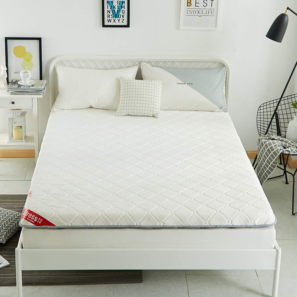 HIGHKAS Foldable Quilted Mattress,Thicken Medium Firm Tatami Floor Mat Breathable Not-Slip Futon Foldable Mattress Pad Guest Bed Mat-a 150x200x6cm