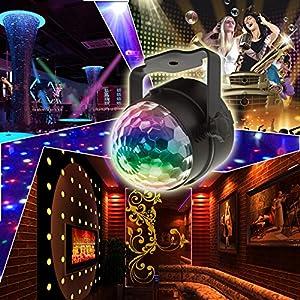61ssEUbjkXL. SS300  - KOOT-Discokugel-Disco-Licht-Party-Licht-LED-Bhne-Lichter-DJ-licht-Ton-Aktiviert-und-Fernbedienung-Beste-fr-Kinder-Geburtstag-Parteien-Karaoke2019-Aktualisierung