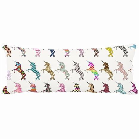 Decorativo almohadas diseño de unicornio rosa teal Astec ...