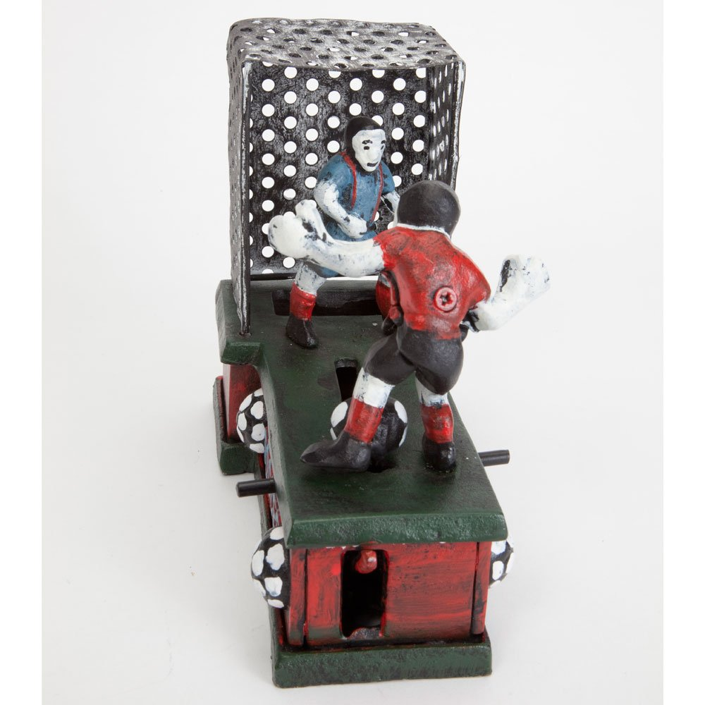 Bits and Pieces - Soccer Mechanical Coin Bank - Collectible Cast Iron Mechanical Bank - Score a Goal and Save by Bits and Pieces (Image #3)
