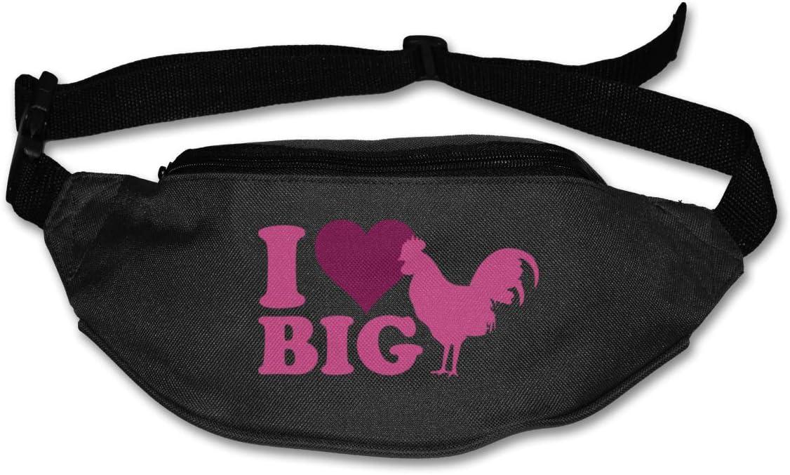 I Love Big Cock Waist Packs Adjustable Sport Fanny Pack For Run