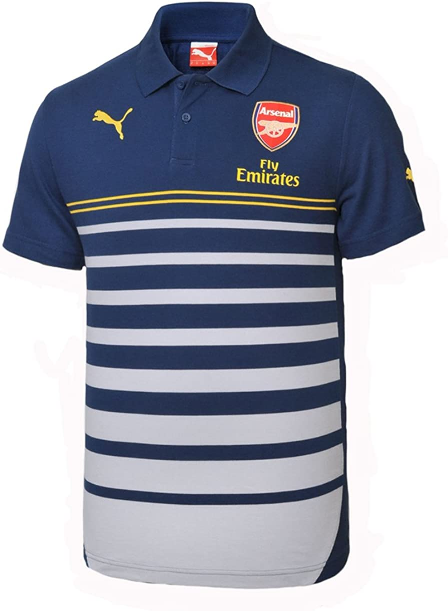 Amazon.com : PUMA Men's Arsenal FC Leisure Hooped Polo Shirt ...
