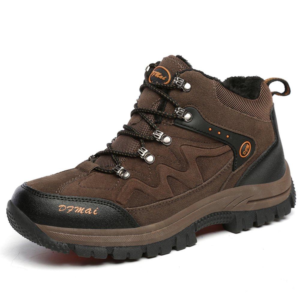 LILY999 Herren Trekking Wanderschuhe Warm Halten Wasserdicht Gleitsicher Stiefel Lässige Sportschuhe(44 EU,Grün)
