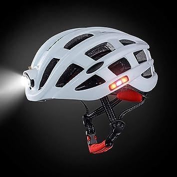MTTKTTBD Ajustable Casco Bicicleta con Luz LED,Ligera Cómoda Casco ...