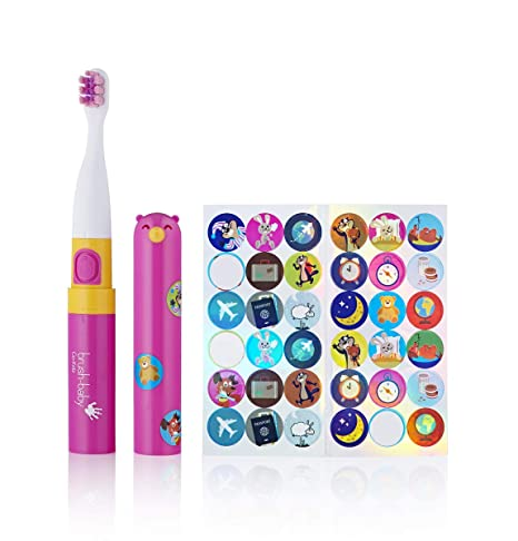 Brush-Baby Go-Kidz - Cepillo de dientes, color rosa