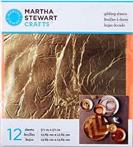 Martha Stewart Crafts Decoupage Gilding Sheets, 33317 Gold