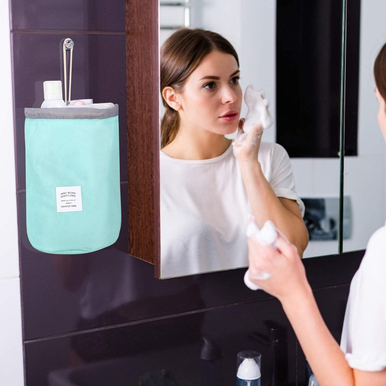 Ulikey 4 Pcs Trousses /à Maquillage Sac Cosm/étique Femmes Imperm/éable pour Organisateur de Voyage Ronde Sacs de Maquillage Trousse de Toilette Grande Capacit/é