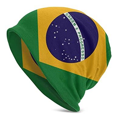 NOT Brazils Flag Women Men Warm Beanie Hats Hip-hop Hat Stretch Slouchy Baggy Skull Cap.