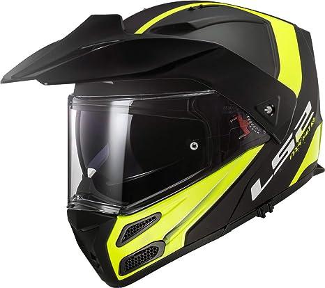 Schwarz//Gelb XS LS2 Motorradhelm FF324 METRO EVO RAPID MATT Schwarz Gelb P//J