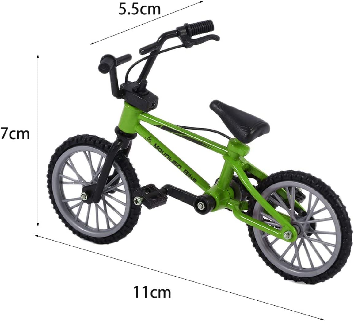 Detectorcatty Mini Size Simulation Alloy Finger Bike Children Kid Funnt Mini Finger Bike Toy with Brake Rope Best Birthday Gift