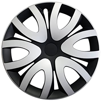 Tapacubos – Tapacubos Tapacubos Mika bicolor negro de plata 15 pulgadas 15 R15 Dacia Logan