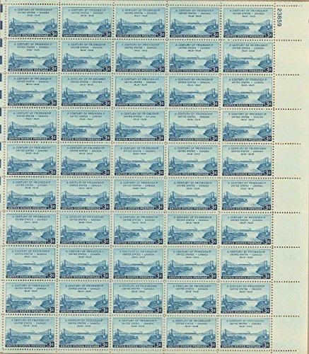 US Stamp - 1948 US - Canada Friendship - 50 Stamp Sheet - Scott - Usps Canada