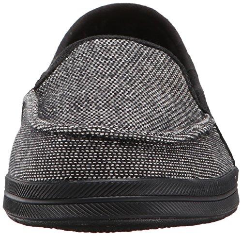 Bobs de Skechers Las Mujeres Gafas de moda sandalias planas zapatillas Black Sweater