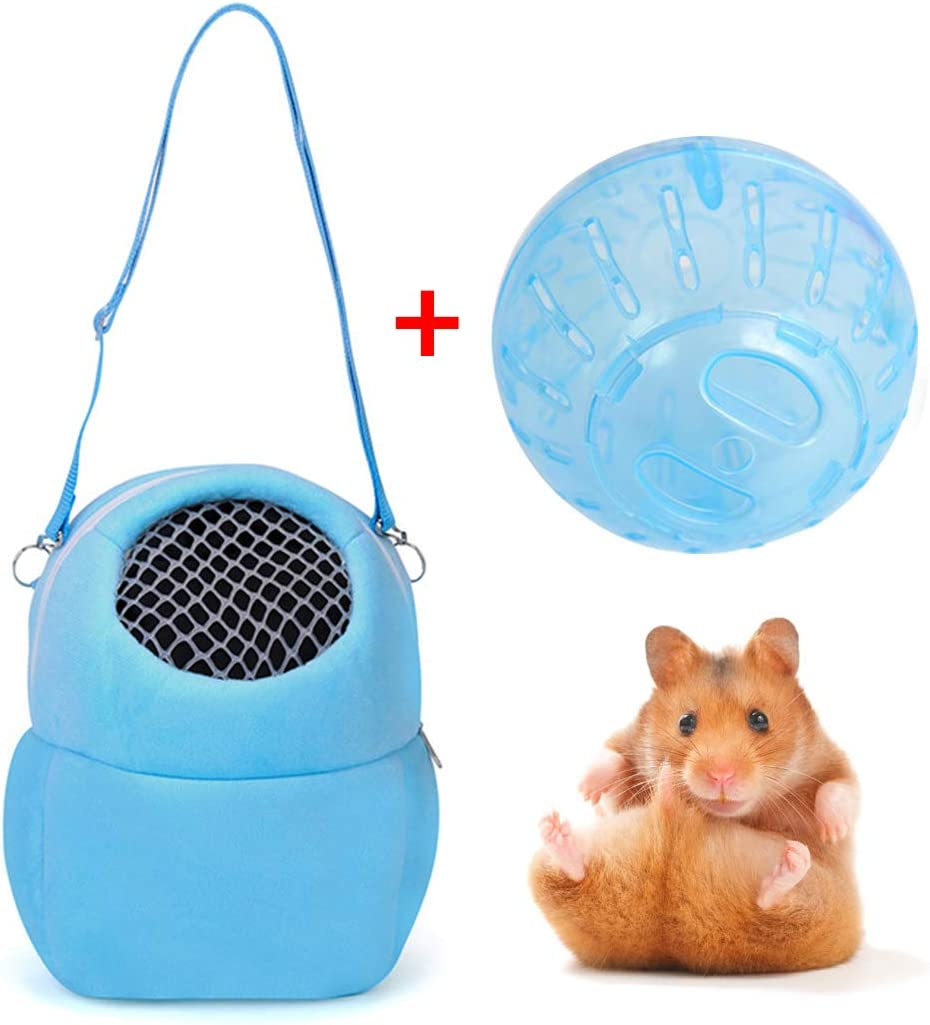 Bangcool Pet Carrier Bag Multifunctional Hamster Carrier Hamster Travel Bag with Ball Toy