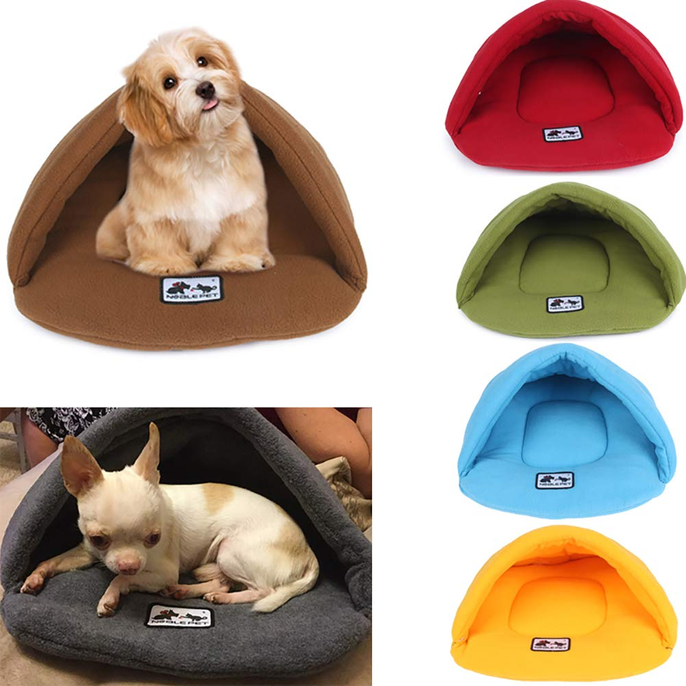 DSstyles Saco de Dormir Polar Polar de Warm Nest para Perro de Conejo de Gato Mediano Grande para Mascotas C/á/ñamo Gris L