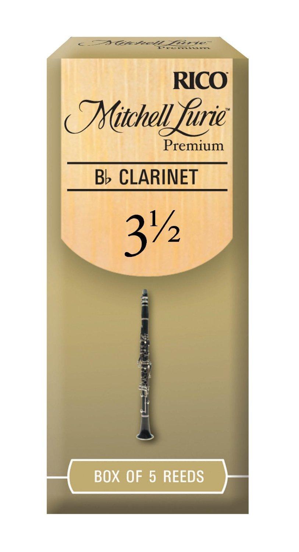 Mitchell Lurie Premium Bb Clarinet Reeds, Strength 2.0, 5-pack Rico RMLP5BCL200