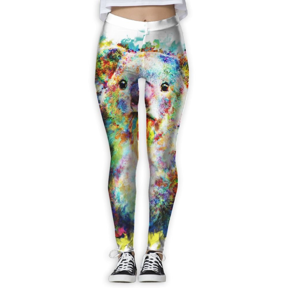26e658e61c53c Go KJ Colorful Koala Art Printed Yoga Pants Stretchy Workout Soft Workout  Gym Leggings Tights Elastic at Amazon Women's Clothing store: