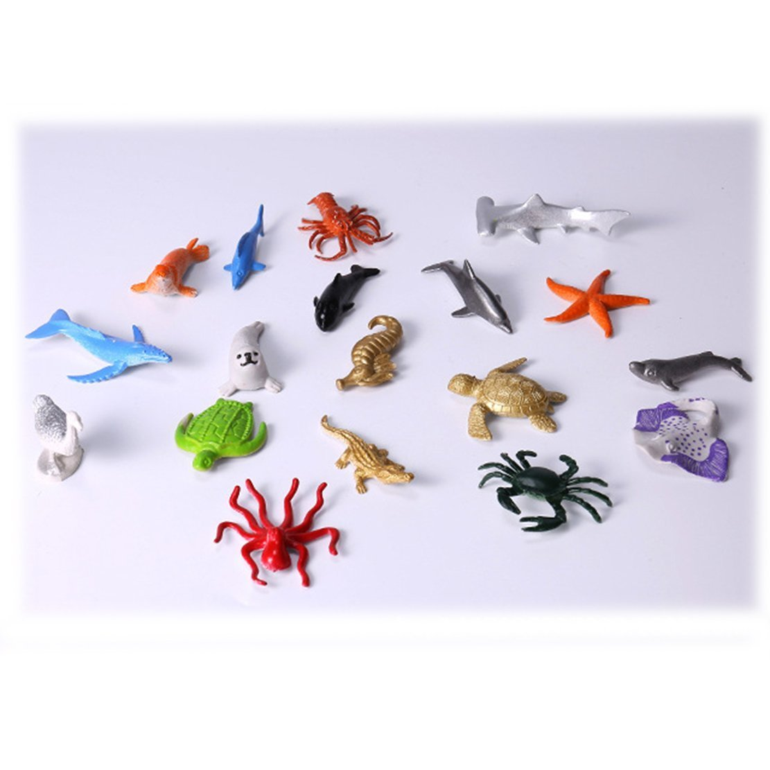 DLOnline 87PCS Animals Figure and Ocean Sea Animal,Realistic Wild Plastic Animal Playset